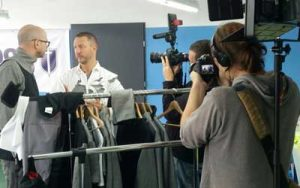 Robert Kaiser Filming for ProSieben Galileo programme