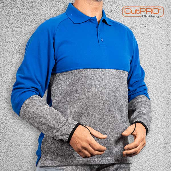 CutPRO Cut Resistant Polo Shirt with Belly Patch