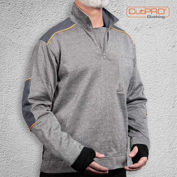 CutPRO Cut Resistant Top with Half Zip Turtle Neck